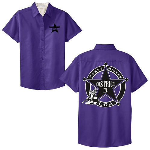 Posse Riders Short Sleeve Button Up