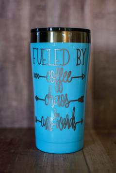 Coffee, Chaos, Cuss words Tumbler