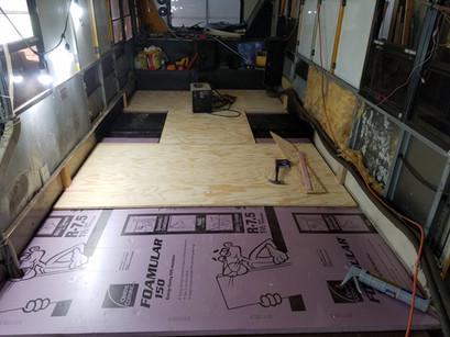 Floor insulation & subfloor