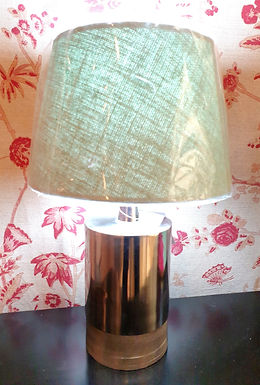 Nickel base with Blue linen shade