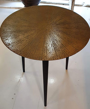 Bronze 'starburst' etched finish side table