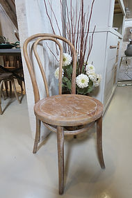 Oak bentwood dining chair with limewash finish