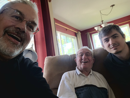 A visit to Matthews Grandfather, 93 years old and still going strong!