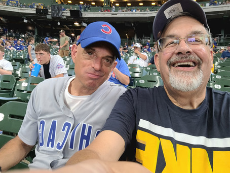 At the Brewers Cubs game today!