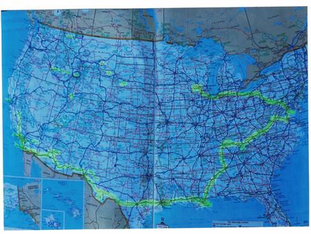 Jim's Atlas of our trip through Fresno.