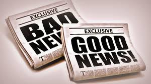 Good News! (and some bad news)