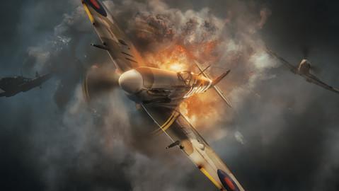 Concept art - Flying through a storm of flak.