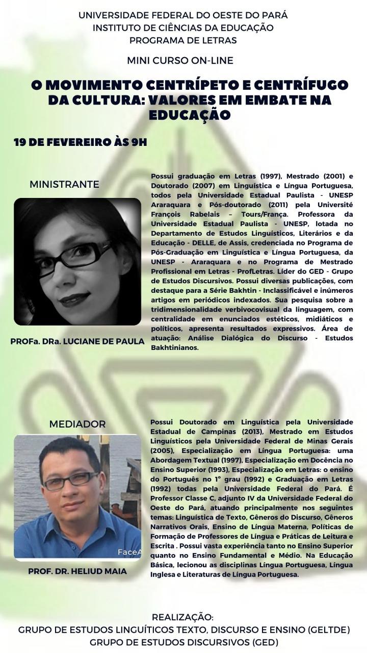 Minicurso com Luciane de Paula!