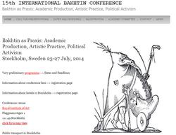Bakhtin Conference