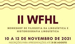 II Workshop de Filosofia da Linguística e Historiografia Linguística