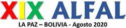 XIX Congresso Internacional da ALFAL