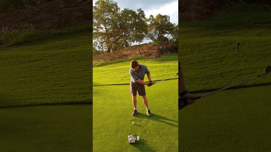 A Slow Mo of a finesse chipping movement