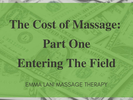 The Cost of Massage: Part One Entering The Field