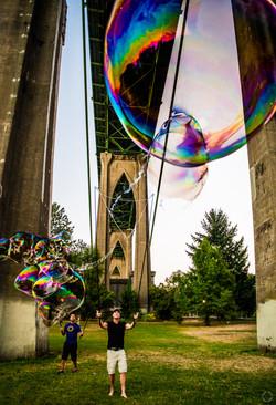 Portland Bubble Boys Jeff and Hector