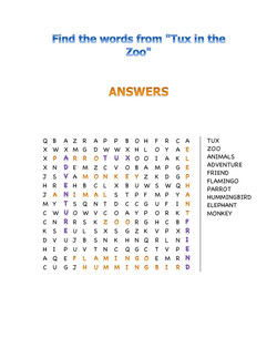 Find the Words Answers