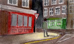 Man on a Street Corner