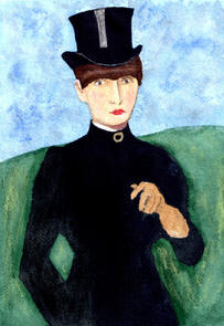 After Manet - Horsewoman