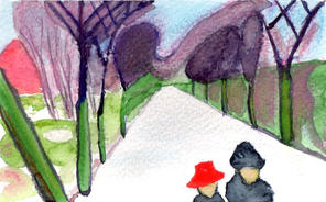 After Munch - New Snow in the Avenue