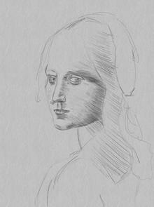 After Da Vinci - Head of a Girl