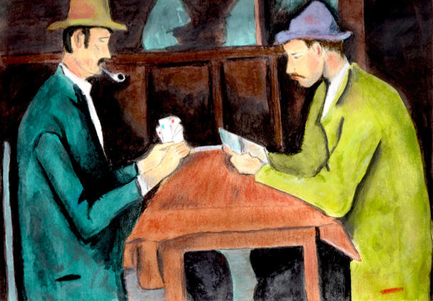 After Cezanne - Card Players