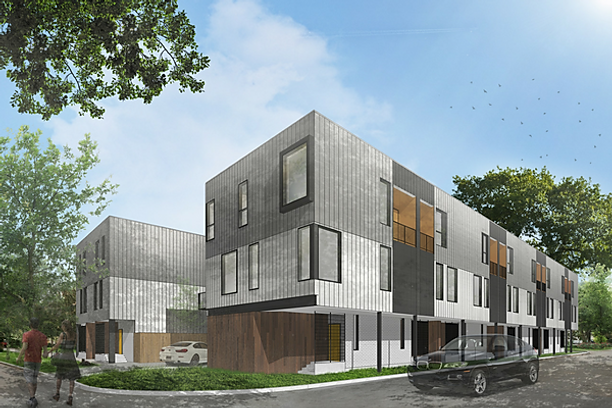 Oaxaca Interests Building 16 Unit Contemporary Townhome Development In West  Dallas