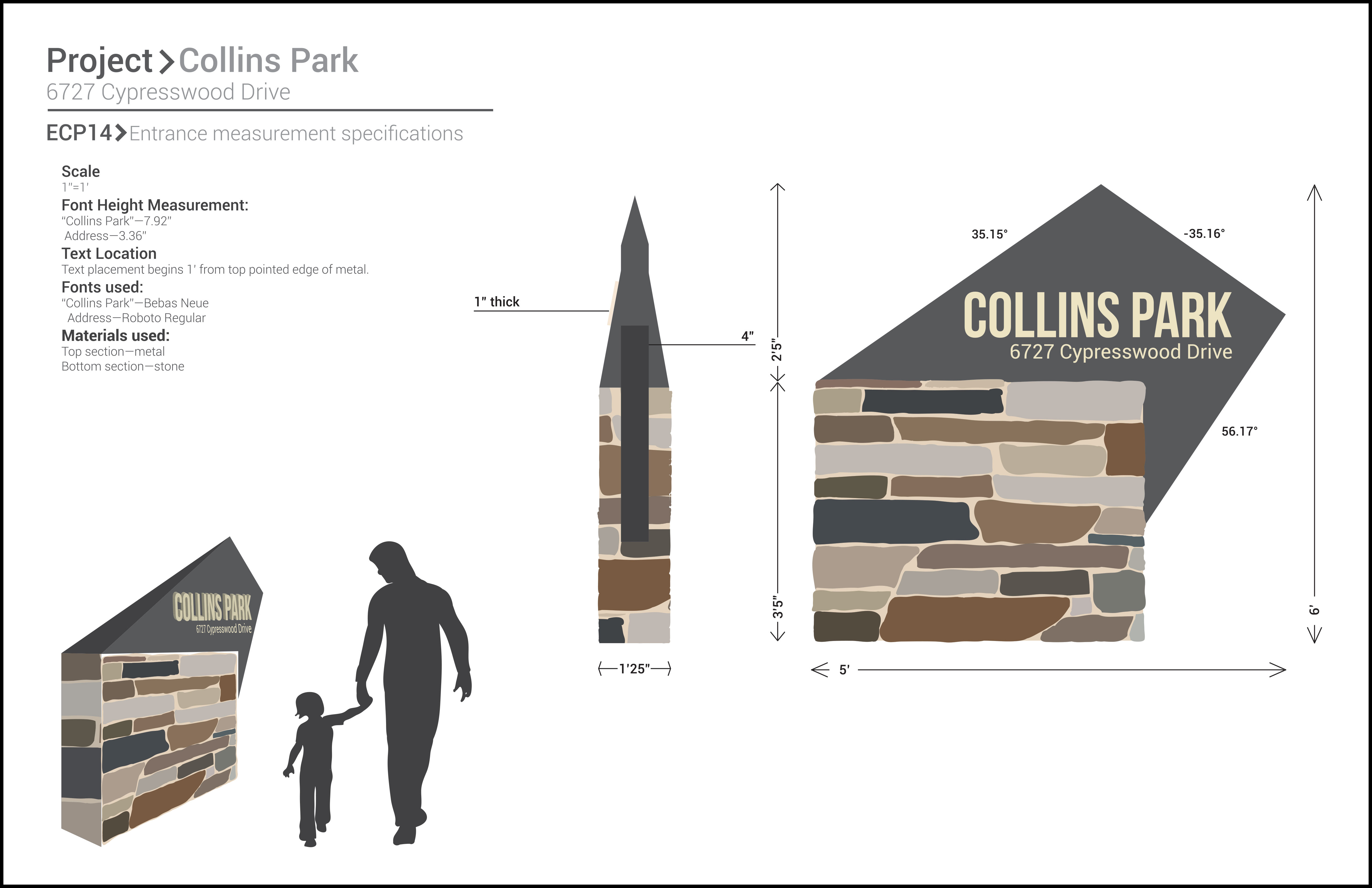 Collins Park Entrance Sign