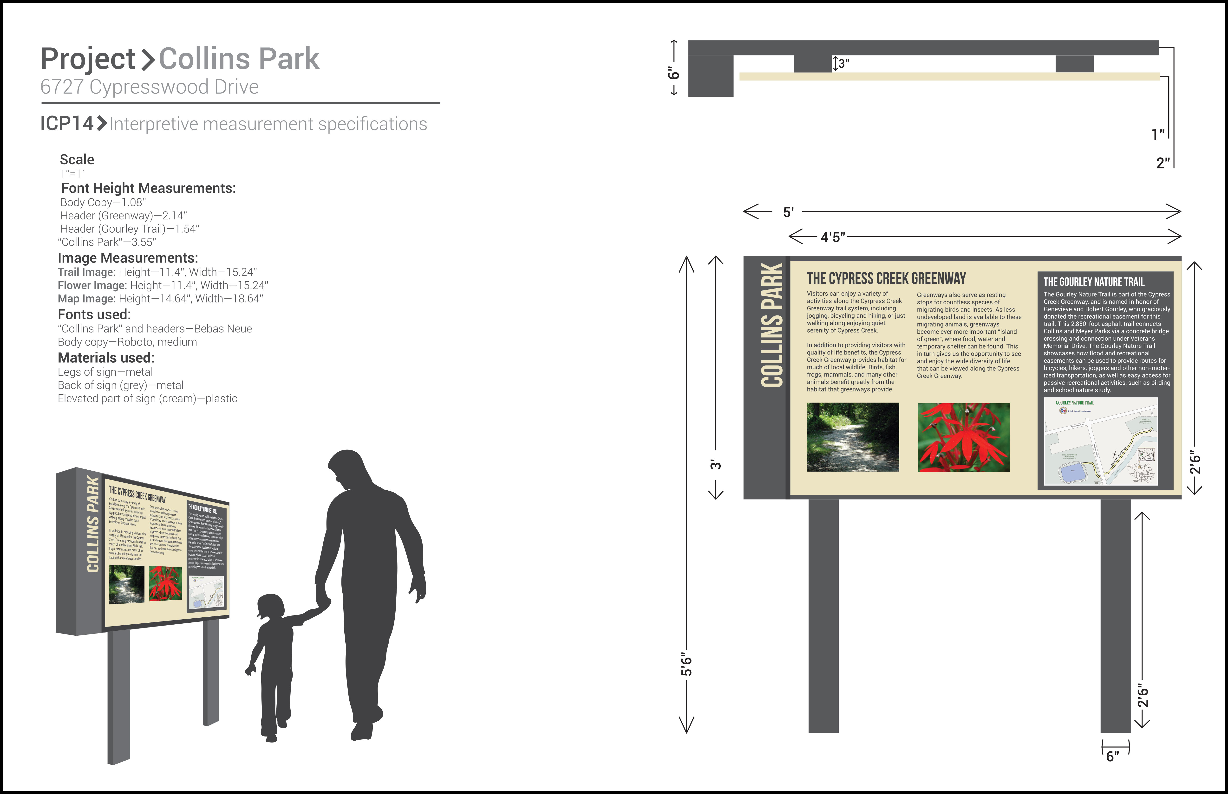 Collins Park Informational Sign