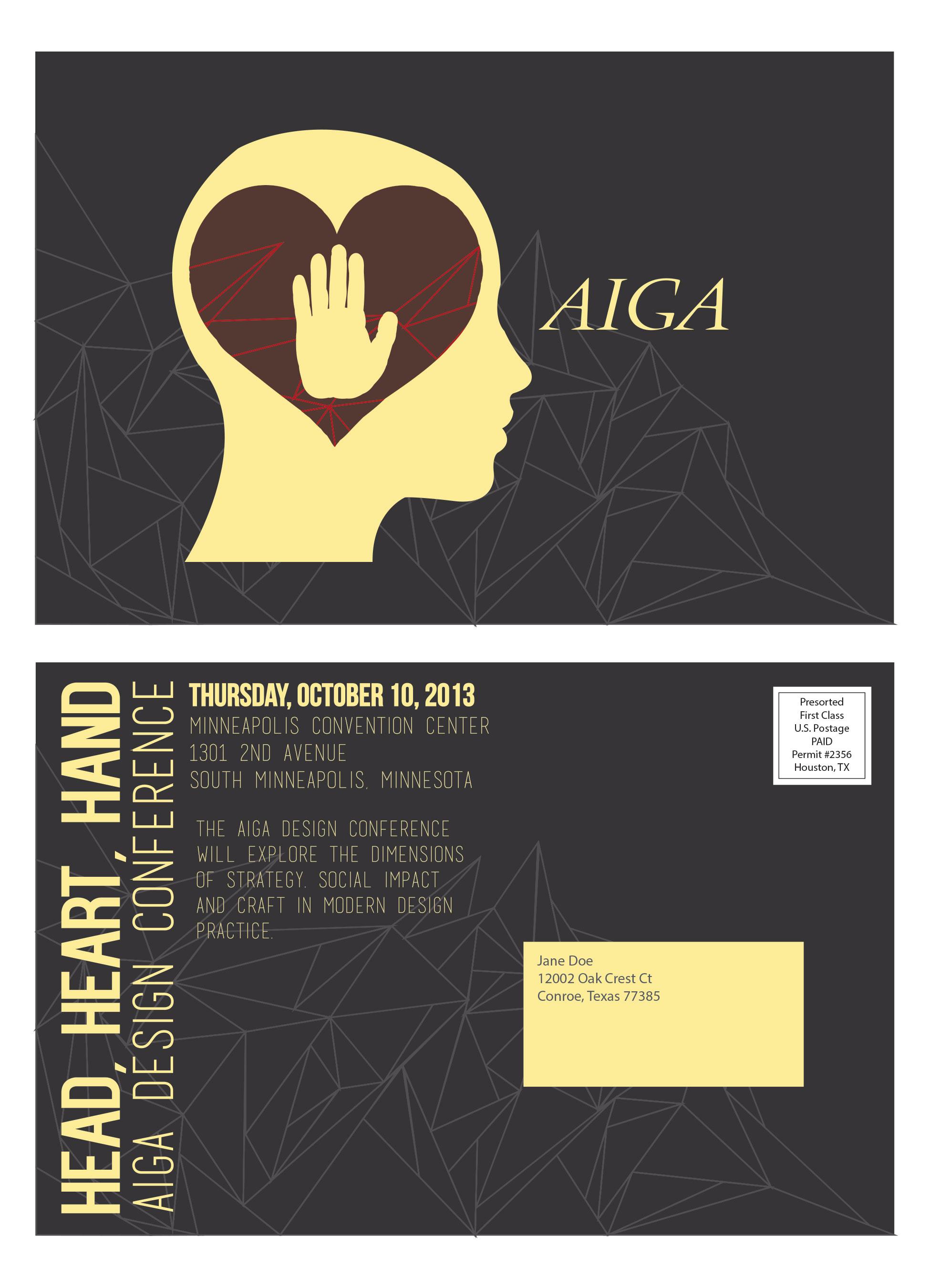 AIGA Conference Postcard