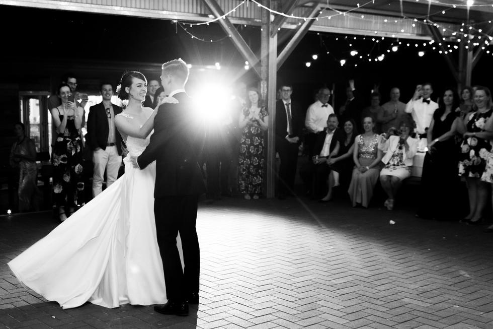 Katie & Brenton's Wedding - Bride And Groom Dancing