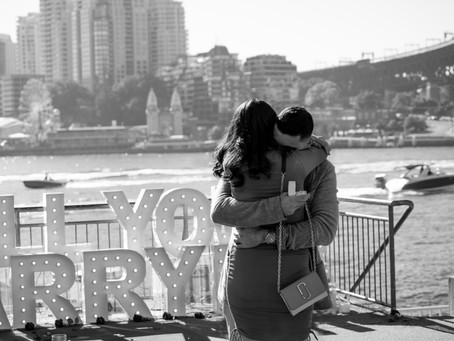 Surprise Engagement Proposal at Pier One