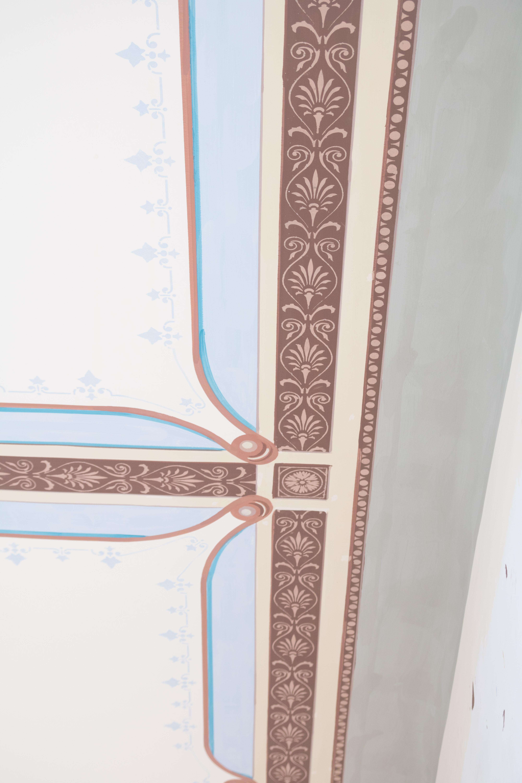 Schablonierung Detail