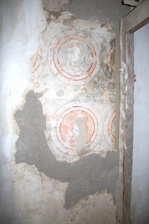 Zwischenzustand Wandmalereifragment
