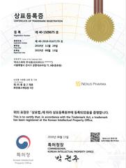 Nexus Pharma Trademark Registration Cert