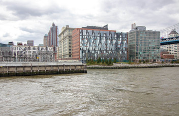 Reflective Sugar Crystal-Inspired Facade at Landmarked Dumbo Factory Is Finished