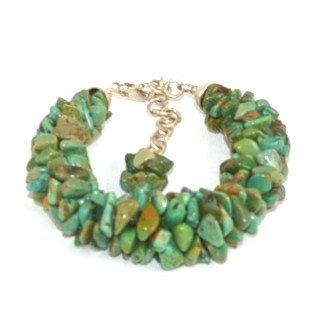 Bracelet Kumihimo Turquoises Vertes
