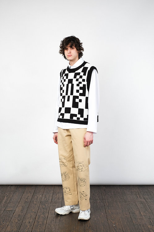 Pants chino beige