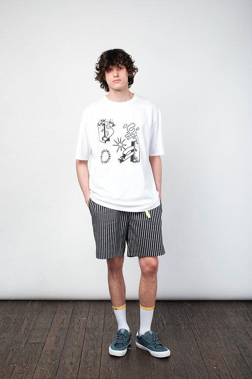 """Shorts """"White stripe"""" grey-black"""