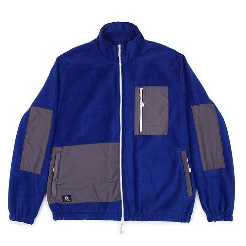 Warm zip up fleece in blue/grey