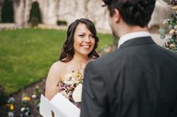erster Blick auf die Braut