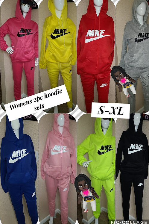 Women hoodie 2pc set