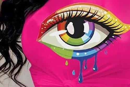 rainbow eye tee