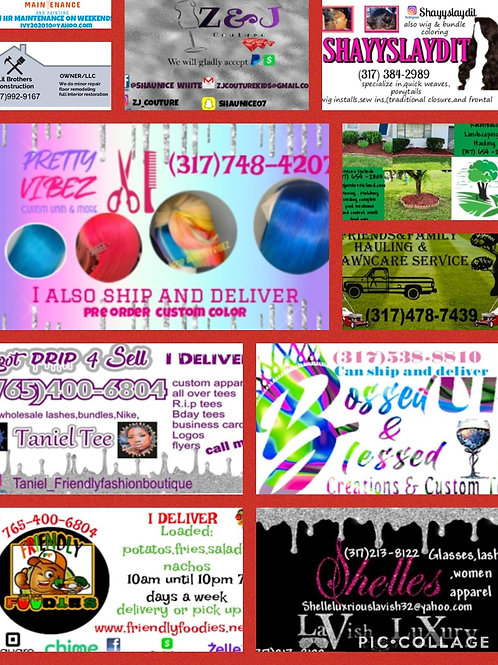 Business cards available u will get 100