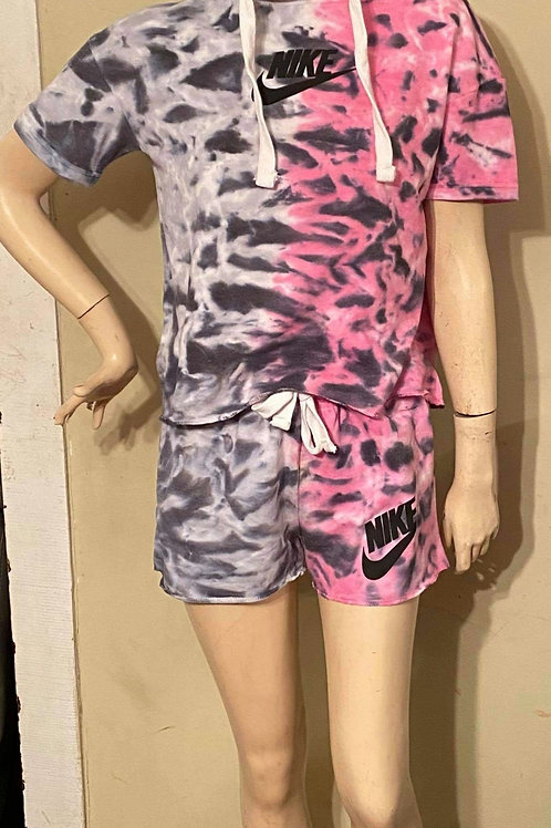 Pink/black 2tone 2pc Nike set