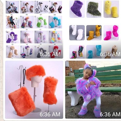 Furry boots sets #Adults #Kids