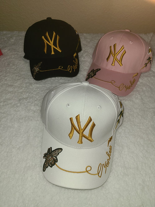 NY HAT BUTTERFLY