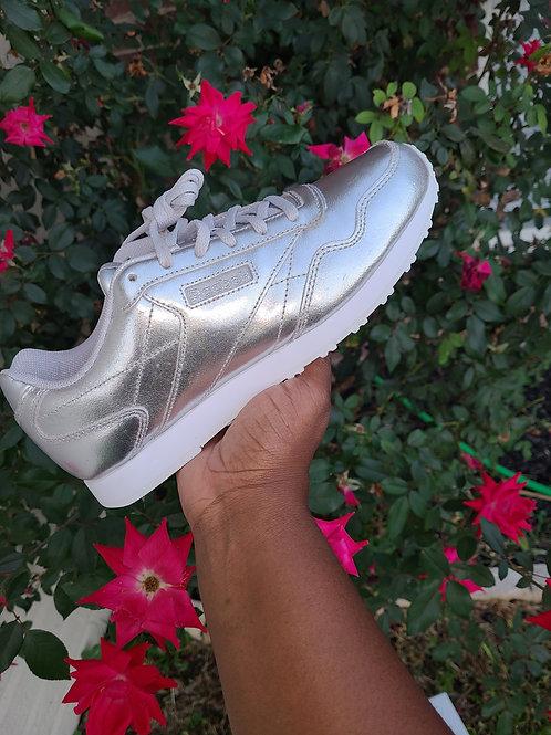 Metallic Silver Reebok