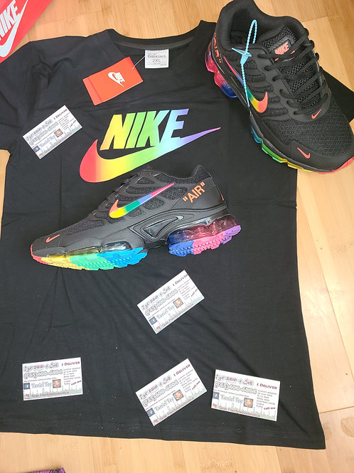 Rainbow/black #set