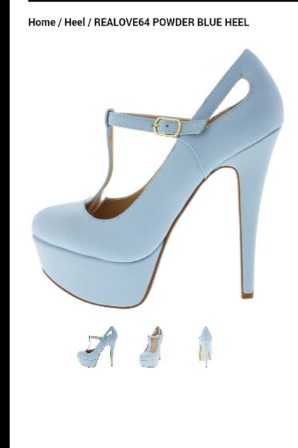 sky blue shoe