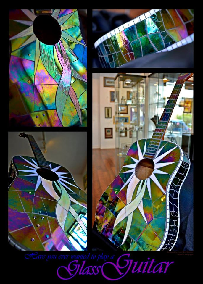 Glass Mosaic Guitar