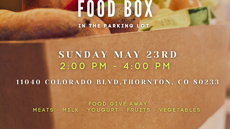 Food Box Giveaway - Farmers to Families!